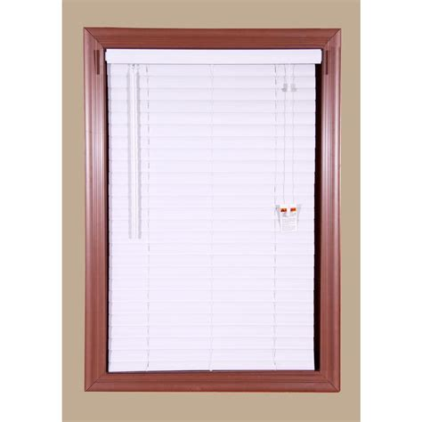 home depot mini blinds bali grab n go white 2 in vinyl mini blind 70 in