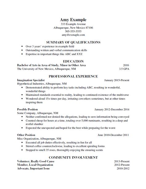 What Is In A Resume by Resume Format Bad Resume Format Unm Career