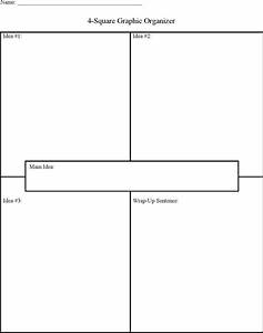 download four square graphic organizer template sample for With foursquare templates