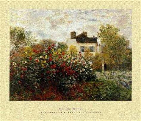 claude monet painting garden in argenteuil montgeron and