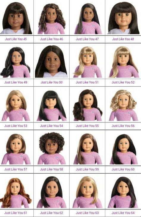 visual chart    dolls  american doll