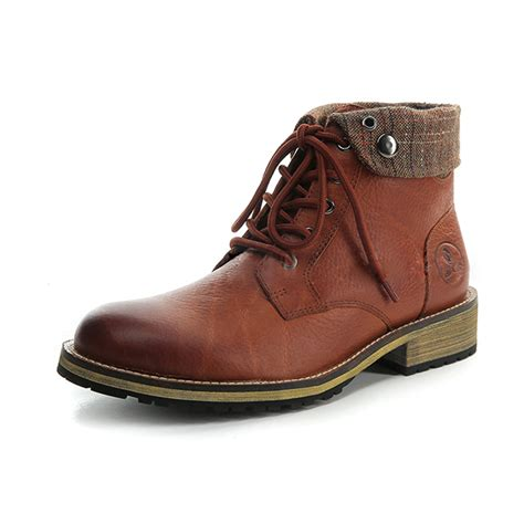 casual motorcycle riding boots brown casual leather boots short boots shoes winter warm