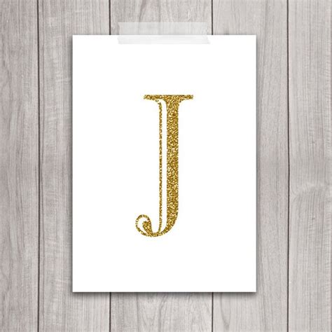 J Wall Decor Letter
