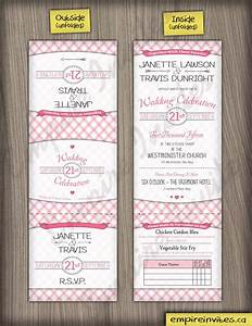 custom plaid trifold wedding invitations canada empire With tri fold wedding invitations canada