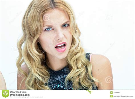 disgusted girl stock image image  color brat