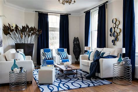 15 Blue Drapes And Curtain Ideas For A Stunning, Modern Interior Country Prairie Style Curtains Green Ivy Shower Curtain Croscill Iris How To Hang On French Doors Without Drilling Holes Unfinished Rod Brackets Lowes Stylish Bathroom What Did The Iron Symbolize During Cold War Install Grommet Rods
