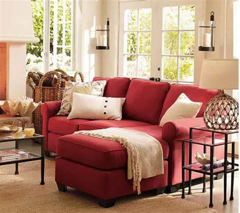 living room  red leather sofa   mirror ideas