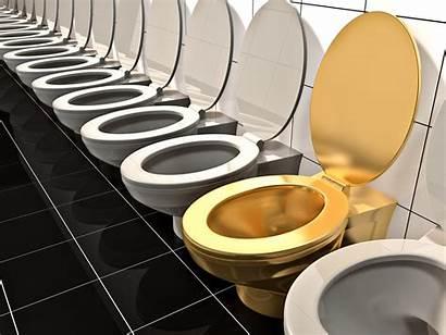 Toilet Karat Toletta Goldene Badezimmer Toilette Dell