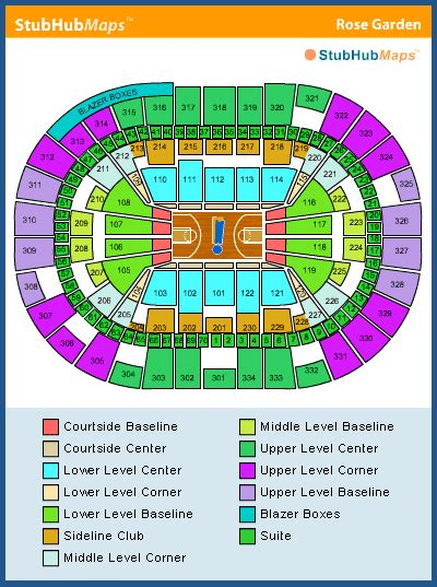 moda center seating chart pictures directions and