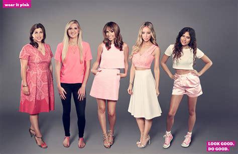 celebrities wear  pink  raise money  breast
