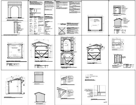 8x8 shed plans materials list 8x8 run in shed plans run in shed plans