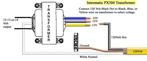 Low Voltage Transformer Wiring Diagram by Intermatic Transformer 300 W 120 V 60 Hz 119t340