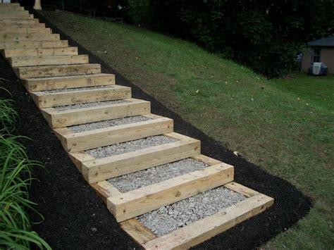 Building Stairs Outdoor On Hill