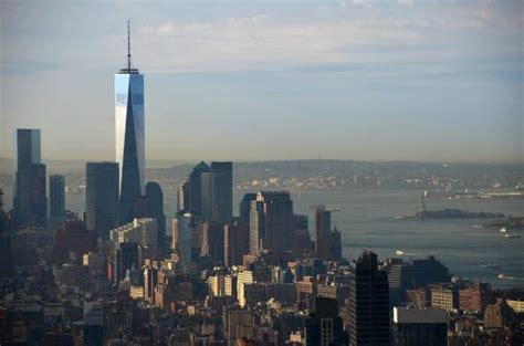 freedom tower observatory deck hours of operation looking south to the freedom tower statue of liberty and