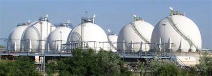 Image result for images huge round gas storage tanks