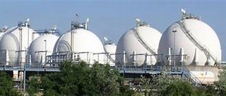 Image result for images huge round gas storage tanks