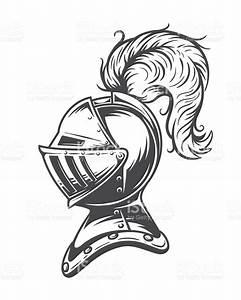 Monochrome Knight Helmet Armor stock vector art 608000124 ...