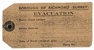Evacuee luggage label world war 2 project pinterest for Evacuation label template