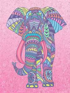 art, background, beautiful, colorful, colour, elephant ...
