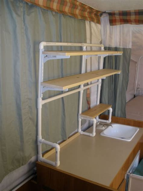pvc shelf system  setting   craft show table