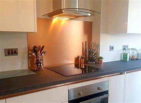 copper effect kitchen splashback cut  size