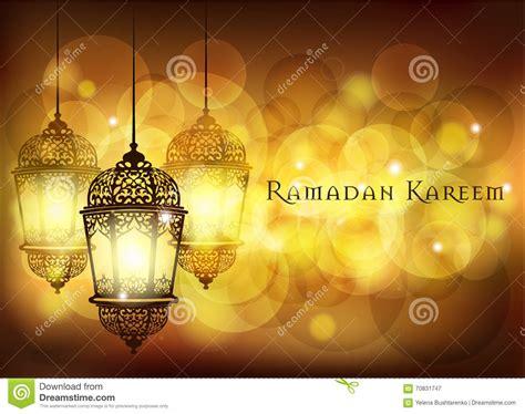 ramadan kareem greeting  blurred background