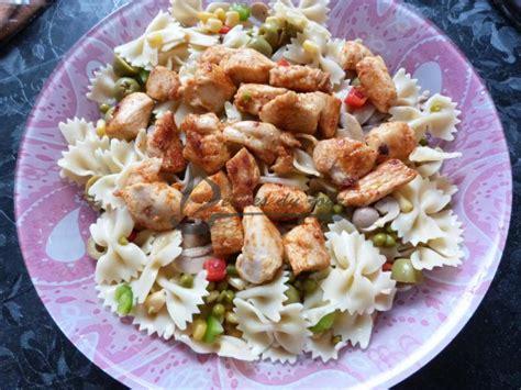 salade de pates poulet salade de p 226 tes au poulet entr 233 e d 233 lices du jour