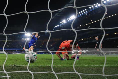 David Luiz of Chelsea celebrates scoring the winning ...