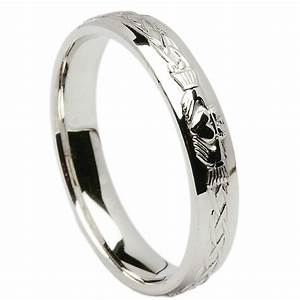 irish wedding ring celtic knot claddagh ladies wedding With womens claddagh wedding ring