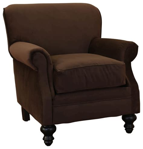 charles fabric rolled arm accent club chair transitional