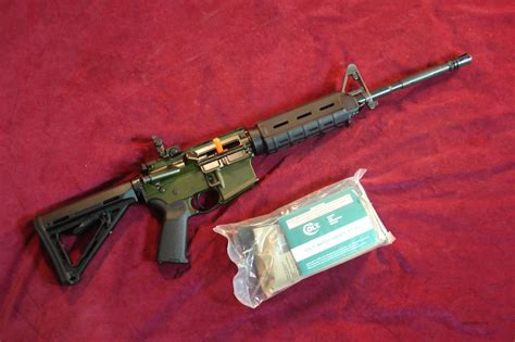 Colt M4 Le6920 Gloss Green Anodized Flattop Mag... For Sale