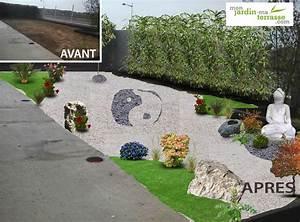 avant apres my garden designer With deco jardin zen exterieur 8 comment creer un jardin japonais ou jardin zen