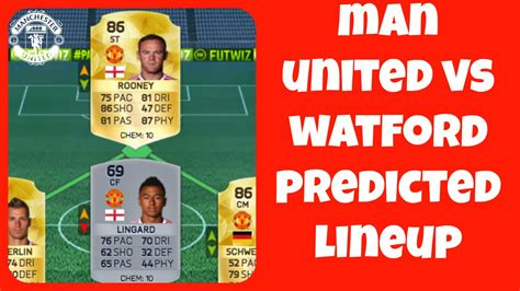 Manchester United vs Watford PREDICTED LINEUP - YouTube