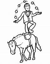 Coloring Horse Juggler Circus Printactivities Appear Printables Printed Navigation February sketch template