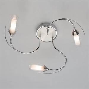 Alex flush ceiling light satin chrome from