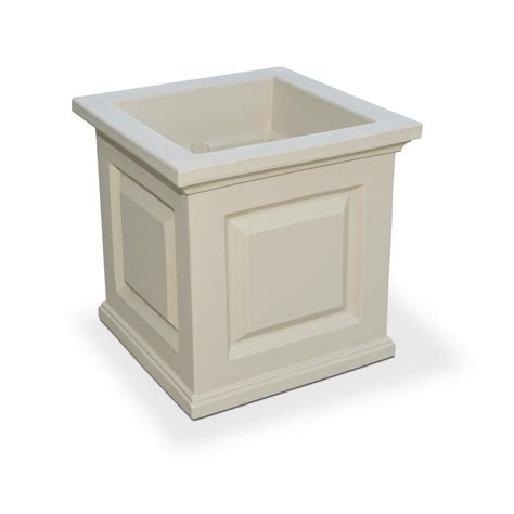 storage for kitchen appliances mayne nantucket 16 in square clay plastic planter 5865 c 5865