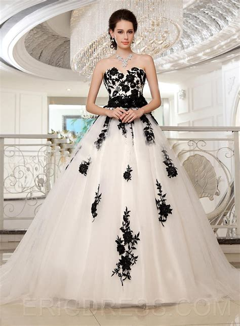 aliexpress buy plus size black and white wedding dresses 2015 dresses gown
