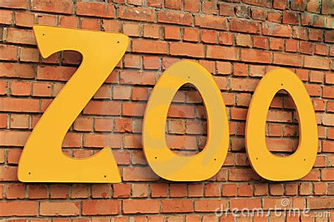 zoo sign royalty  stock photography image