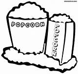 Popcorn Coloring Pages Popcorn3 sketch template
