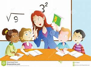 Teacher And Student In The Classroom Royalty Free Stock ...
