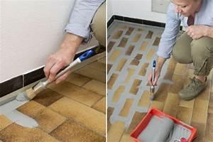 Alte Fliesen Streichen : zuerst fugen mit einem farbpinsel streichen tool time ~ Buech-reservation.com Haus und Dekorationen