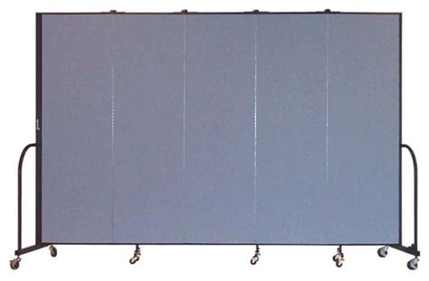 freestanding 80 in portable room divider w 5 panels lake