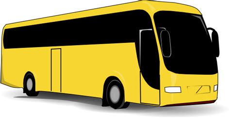 yellow bus clip art  clkercom vector clip art  royalty  public domain