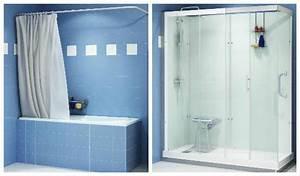 Transformer Baignoire En Douche : solutions pour remplacer sa baignoire par une douche ~ Dallasstarsshop.com Idées de Décoration