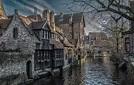 Wallpaper autumn, building, home, channel, Belgium ...