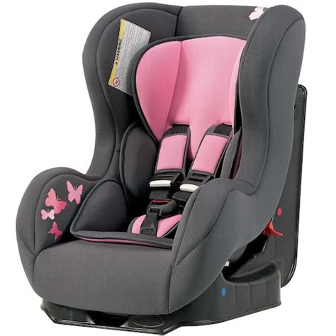 siege auto toysrus comfort plus car seat in pink butterfly toys r us