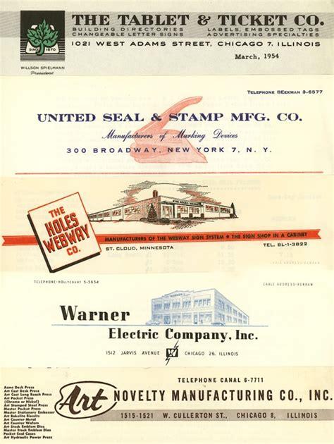 vintage letterhead design