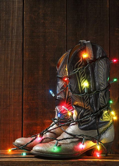 christmas cowboy boots western from cardsdirect