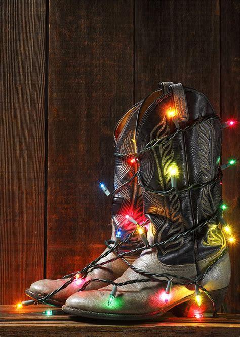 cowboy boots christmas lights cowboy christmas country christmas holidays christmas decor
