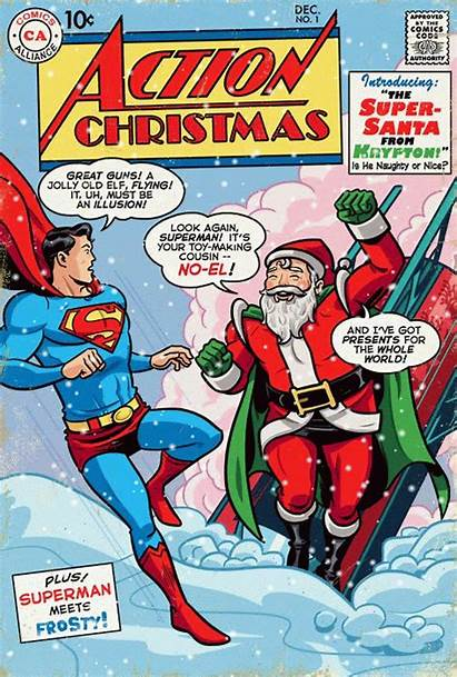 Santa Comics Superman Comic Dc Krypton Noel